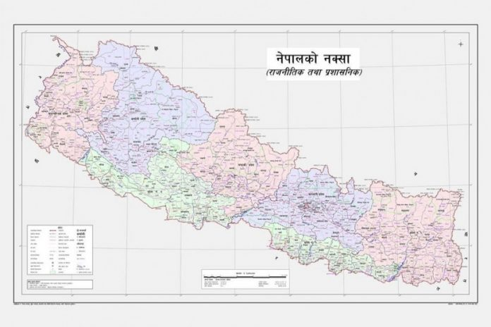 new map of Nepal